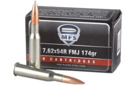 Ruag Ammotec MFS 7.62x54R Ammo 174 Grain Full Metal Jacket - 20 Round Box