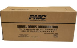 PMC 45ABP 750 Case, Battle Packed, 45 ACP 230 GR Full Metal Jacket, Brass, Boxer, FMJ, N/C - Three 250rd Battle Packs In A 750 Round Case