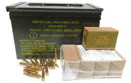 PMP 5.56x45mm 55 GR M193 Ball AM2427 - 200rd Battle Pack