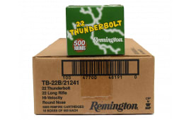 Remington Thunderbolt .22 LR 40 GR LRN Lead Round Nose Ammo, 1255 FPS - 5000rd Case
