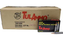 Tulammo 308 Win/7.62 NATO 500 Round Case - Centerfire Rifle Ammunition - 150 GR FMJ - 500 Rounds - Mfg # TA308150