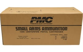PMC Bronze .45 ACP Jacketed Hollow Point Personal Defense Ammunition - 1000rd Case