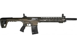 "AR-12 Semi Auto, AR-15 Style 12GA Shotgun by Panzer Arms of Turkey, 3"" Chambers - Cerakote Bronze Finish"