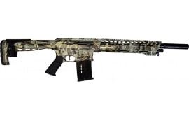 "AR-12 Semi Auto, AR-15 Style 12 GA Shotgun by Panzer Arms of Turkey, 3"" Chambers - Special Forest Green Camo Cerakote Finish"