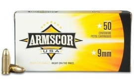 Armscor FAC95 9mm Luger 147 GR Full Metal Jacket - 50rd Box