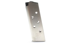 ASC Compact 1911 45 ACP 7 Round Natural Stainless Steel Magazine W/ Stainless Steel Floor Plate