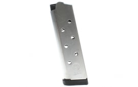 ASC Full-Sized 1911 45 ACP 8 Round Natural Stainless Steel Magazine - Overmolded