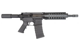 "Bear Creek Arsenal 300 Blackout AR-15 Pistol, 10.5"" w/ Quad Rail, M4, 1 in 8 twist, W / 30 Rd Mag - BCA Hog"