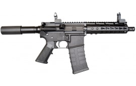 "Bear Creek Arsenal AR-15 Pistol, 5.56 NATO, 7.5"" BBL, 7"" Keymod Rail, w/ Flip up Sights and 30 Rd Mag"