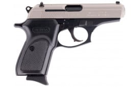 "Bersa Thunder Duo-Tone .380 ACP Semi Auto Pistol 3.5"" Barrel 7 Rounds Alloy Frame Steel Slide Polymer Grips Nickel/Black"