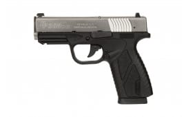 Bersa BPCC Concealed Carry DAO 380 ACP Pistol, 3.3in Barrel 8+1 Black Polymer Grip Stainless - BP380DTCC