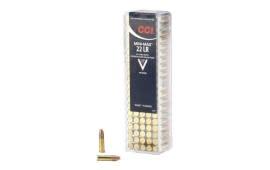 CCI 22 LR Ammunition - 40 gr Mini-Mag HV- CCI- 100 Rounds / Flat