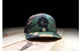 Classic Firearms Trucker Hat - Military Green Camo/Black