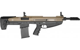 "Charles Daily N4S Semi Automatic 12 Gauge Bullpup Shotgun, 3"" Chambers, Flip Up Sights, Detachable Mag - FDE"