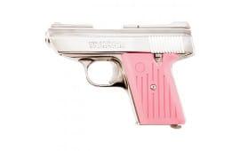"Cobra C.A. Series Compact .380 ACP Pistol, 2.8"" Bbl, Chrome/Pink CA380CPK"