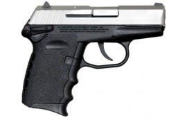 SCCY CPX-1 TT 9mm Polymer Frame Pistol, Satin Stainless on Black, DAO 10+1 w/ 2 Mags