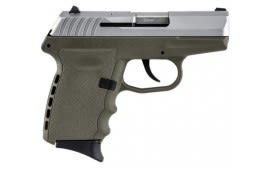 SCCY CPX-2 TTDE 9mm Polymer Frame Pistol, Satin Stainless Slide on Dark Earth, DAO 10+1 w/ 2 Mags