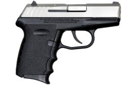 SCCY CPX-2 TT 9mm Polymer Frame Pistol, Satin Stainless Slide on Black, DAO 10+1 w/ 2 Mags
