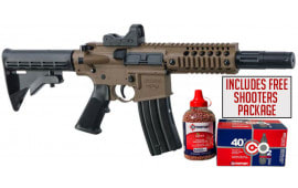 Crosman Bushmaster MPW Full Auto, CO2 Powered .177 Caliber, Flat Dark Earth BB Gun w/Free Red Dot & Shooters Package
