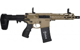 FosTecH 4163-FDE Fighter LITE Tomcat Pistol with Echo AR-II Trigger .223/5.56NATO (1) 30 Rd Mag and SB Tactical PDW Brace - Flat Dark Earth