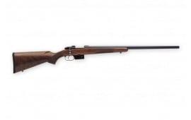 "CZ USA 527 Varmint 17Hornet Rifle, 24"" Heavy Walnut SST 5rd - 03066"