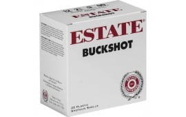 "Estate HV12BK25 12 GA 2 3/4"" 9 Pellet 00 Buck Shot - 25rd Box"