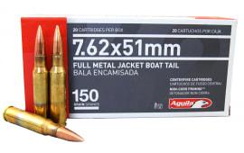 Aguila 7.62x5 NATO 150gr FMJ BT Ammo 1E762110 - 20rd Box