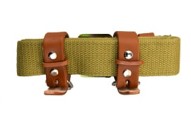 Mosin Nagant Rifle Sling New - Exact Reproduction of Original Sling with Dog Collars for M91/30's, M44's, M39's, Etc.