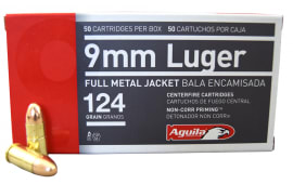 Aguila 1E092110 9mm Luger 124gr FMJ Ammo - 50rd Box