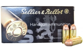 Sellier and Bellot SB45A .45ACP 230gr  FMJ Ammo - 50rd Box