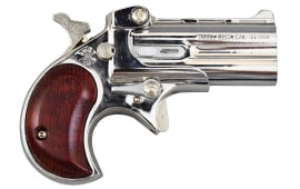 Cobra Derringer .22 WMR ( .22 Mag ), Over / Under, Chrome / Rosewood Grips C22MCR