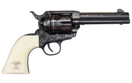 """1873 Single Action Revolver .357 Mag Liberty Model 4 3/4"""" Engraved - Blued, by Traditions SAT73-119LIB"""