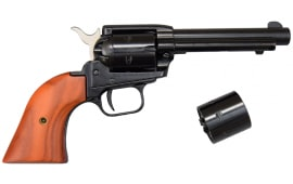"Heritage Rough Rider Revolver - .22 LR / .22 Mag Combo, 4.75"" Blued with Wood Grips"
