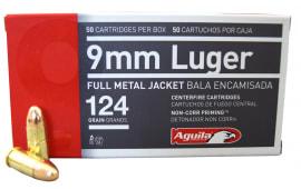 Aguila 1E092110 9mm Luger 124 GR FMJ Ammo - 1000 Round Case