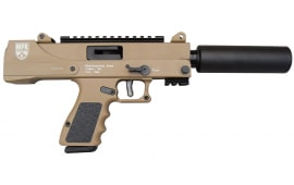 "MasterPiece Arms 30DMG Full Size Pistol 9mm Semi-Auto 5.5"" Barrel w/ Fake Suppressor in Flat Dark Earth. MPA30DMG"