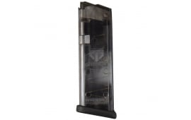 ETS Glock 9mm 15rd Mag - Fits 19, 26 - Clear Black - GLK-19