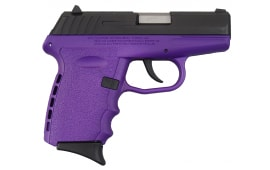 SCCY CPX-2 CBPU 9mm Polymer Frame Pistol, Blued Steel Slide on Purple, DAO 10+1 w/ 2 Mags