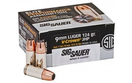 Sig Sauer E9MMA1-COMP-50 9mm 115 Jacketed Hollow Point VCRWN 50/20 - 50rd Box