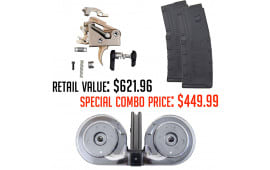 Fostech Echo Trigger Combo Deal With Gen II AR-15 100 Round Drum & Two Amend2 30 Round AR-15 Magazines