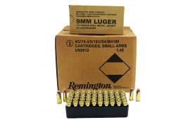Remington Ammunition B9MM3 Overrun 9mm Luger 115  GR Full Metal Jacket - 500 Round Case