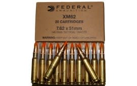 Federal XM62 7.62x51mm 148 GR Tracer Ammo - 20rd Box