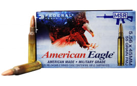 Federal American Eagle XM193 55gr 5.56x45mm FMJ Ammo, Lake City Production - 20rd Box