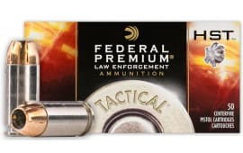 Federal P40HST1 Premium Personal Defense .40 S&W, 180 GR HST Jacket Hollow Point - 50 Round Box