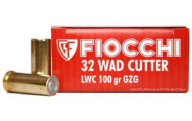 Fiocchi 32LA Shooting Dynamics 32 S&W Long 100 GR Lead Wadcutter - 50rd Box