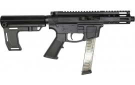 "Foxtrot Mike FM-9 Semi-Automatic AR-15 Pistol 9mm 5"" Threaded Barrel, Glock Mag Compatible -  W / Free MFT Pistol Brace."