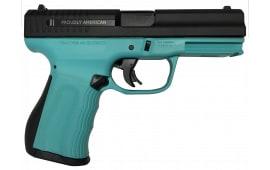 "FMK Firearms 9C1 G2 Fast Action Trigger 9mm Pistol,4"" Drop Free Magazines Robin Egg Blue - G9C1G2ETB"