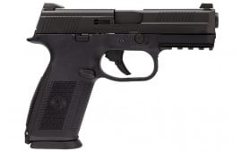 """FNH FNS-9 9mm Pistol, 4"""" BBL NS LE Black 3-17rd Mag - 66913"""