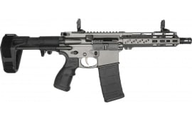 "Fostech Tomcat Semi-Automatic AR-15 Pistol 7.5"" Barrel .300BLK 30rd - W/ Echo AR-II Trigger & PDW Brace - Tungsten Finish - Factory Blem"