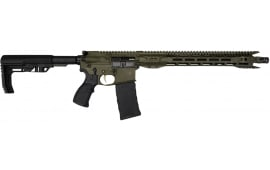Fostech Fighter Lite 5.56 AR15 Rifle with Echo Trigger - OD Green Cerakote Finish