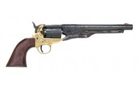 1860 Black Powder Engraved Army Revolver .44 Cal Brass - Blued, by Traditions - FR186012, Black Powder - No FFL Required.